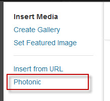 """Click on the new """"Photonic"""" tab"""