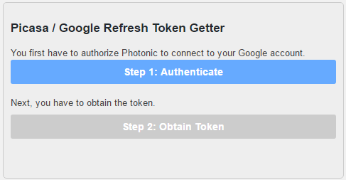 First, login and provide Photonic the permission to access your photos.
