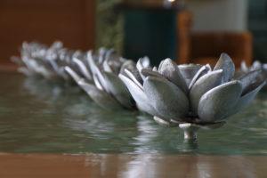 Silver lotuses, ITC Gardenia, Bengaluru